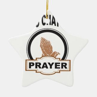 Ornamento De Cerâmica oração do bate-papo dos deuses