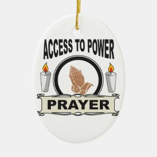 Ornamento De Cerâmica oração o acesso ao poder