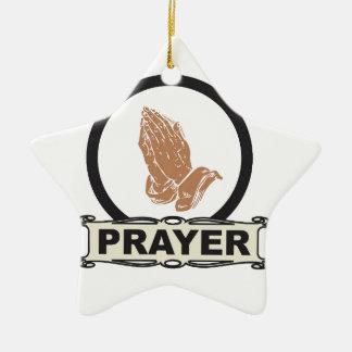 Ornamento De Cerâmica Oração simples