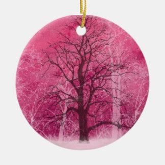 Ornamento De Cerâmica oranament cor-de-rosa do país das maravilhas do