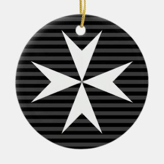 Ornamento De Cerâmica Ordem branca medieval da cruz | de St John (Reino