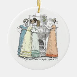 Ornamento De Cerâmica Orgulho e preconceito - esperando os cavalheiros