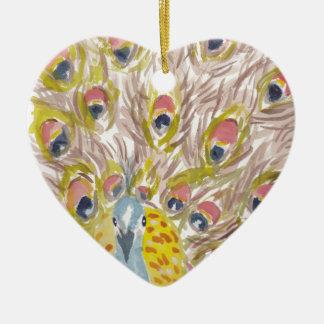 Ornamento De Cerâmica orgulhoso ser pavão