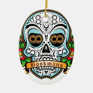 Ornamento De Cerâmica Original do crânio do açúcar