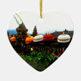 Ornamento De Cerâmica Original do respingo de Bali do guarda-chuva