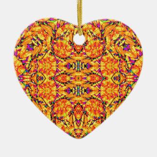Ornamento De Cerâmica Ornamentado vibrante colorido