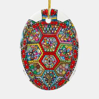 Ornamento De Cerâmica Ornamental decorativo das flores florais da