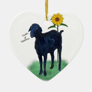 Ornamento De Cerâmica Ornamento: Cabras pintadas diferentes da parte