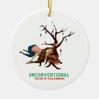 """Ornamento De Cerâmica """"Ornamento da árvore de Natal um tanto portátil"""""""