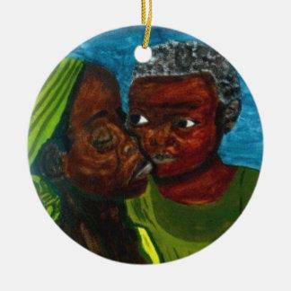 """Ornamento De Cerâmica """"Ornamento de um amor de mãe"""""""