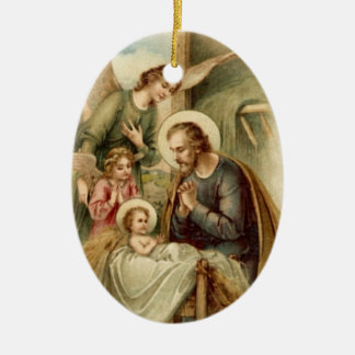 Ornamento De Cerâmica Ornamento: Natividade de St Joseph
