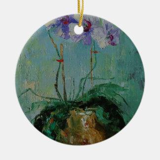 Ornamento De Cerâmica Orquídea