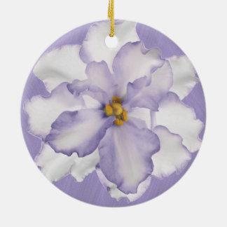 Ornamento De Cerâmica Orquídea bonita da lavanda