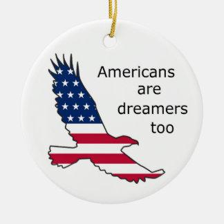 Ornamento De Cerâmica Os americanos são sonhadores também, EUA,