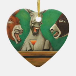 Ornamento De Cerâmica Os asnos de riso