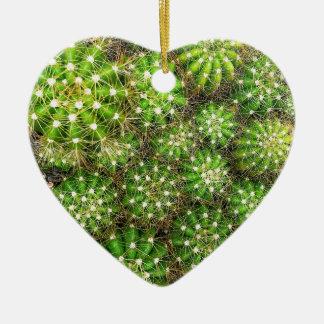 Ornamento De Cerâmica Os cactos Dble-tomaram partido coração Ornanent