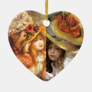Ornamento De Cerâmica Os chapéus com flores são obra-primas na arte de