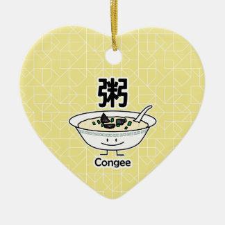 Ornamento De Cerâmica Os chineses da bacia do gruel do papa de aveia do