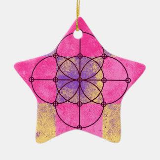 Ornamento De Cerâmica Os cinco círculos sagrados
