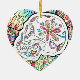 Ornamento De Cerâmica Os cinco sentidos