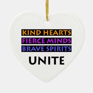 Ornamento De Cerâmica Os corações amáveis, mentes ferozes, espírito