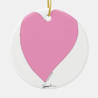 Ornamento De Cerâmica os corações cor-de-rosa