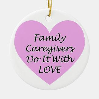 Ornamento De Cerâmica Os cuidadors de família fazem-no com amor