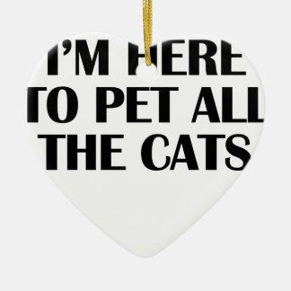 Ornamento De Cerâmica os gatos