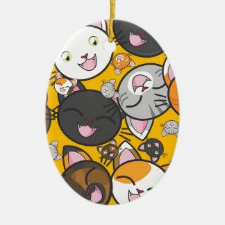 Ornamento De Cerâmica Os gatos de riso