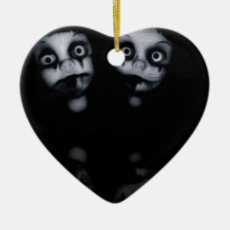 Ornamento De Cerâmica Os gêmeos do terror assombraram o produto da zorra