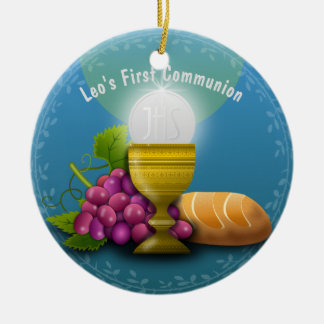 Ornamento De Cerâmica Os presentes santamente do Eucaristia adicionam o