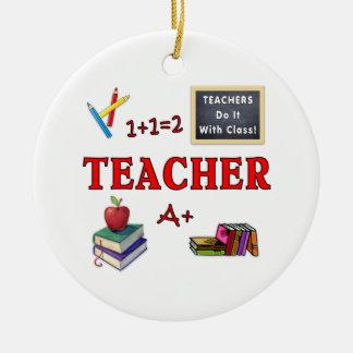Ornamento De Cerâmica Os professores fazem-no com classe