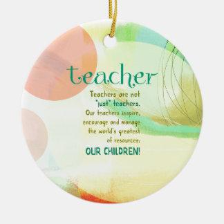 """Ornamento De Cerâmica Os professores não são """"apenas"""" professores"""