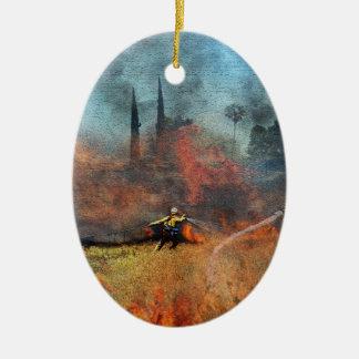 Ornamento De Cerâmica Os sapadores-bombeiros são nossos heróis