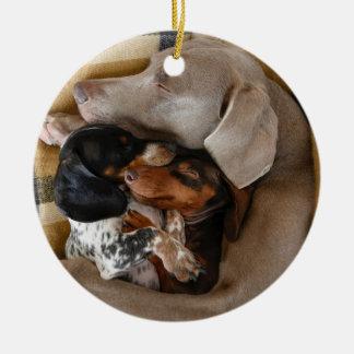 Ornamento De Cerâmica Os três Snoozes