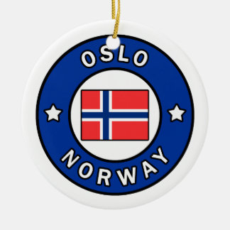 Ornamento De Cerâmica Oslo Noruega
