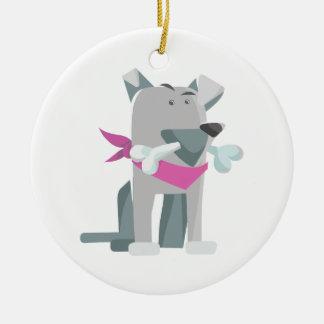 Ornamento De Cerâmica Osso de cão de Hund Knochen
