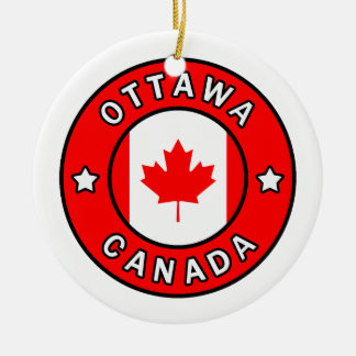 Ornamento De Cerâmica Ottawa Canadá