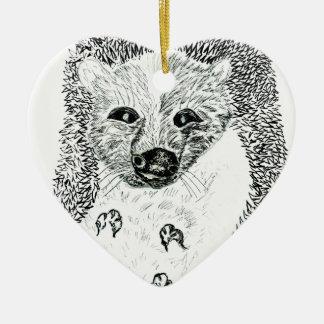 Ornamento De Cerâmica Ouriço bonito Drawing2