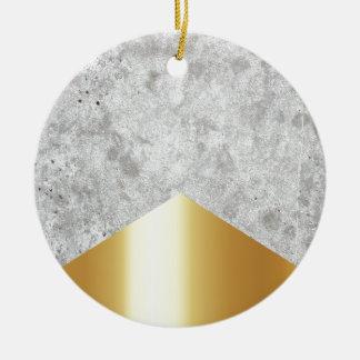 Ornamento De Cerâmica Ouro concreto #372 da seta