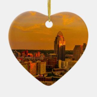 Ornamento De Cerâmica Ouro de Cincinnati