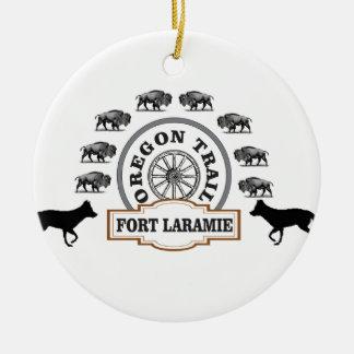 Ornamento De Cerâmica ouro de Laramie do forte