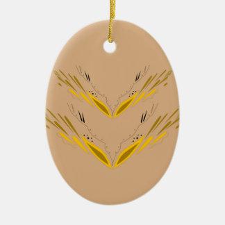 Ornamento De Cerâmica Ouro do bege dos elementos do design