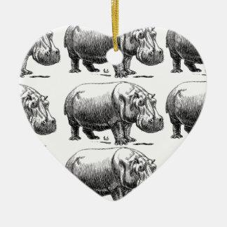 Ornamento De Cerâmica ouro do hippopotamus