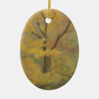 Ornamento De Cerâmica Ouro do outono