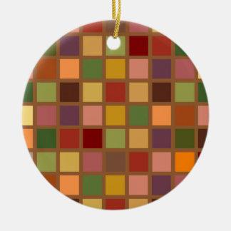 Ornamento De Cerâmica Outono esquadrado