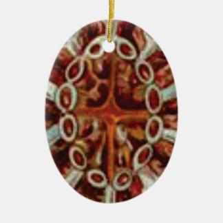 Ornamento De Cerâmica oval das figuras e das formas