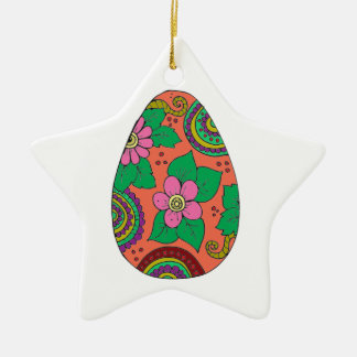 Ornamento De Cerâmica Ovo da páscoa