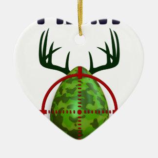 Ornamento De Cerâmica ovo da páscoa, eu caço ovos dos cervos da páscoa,