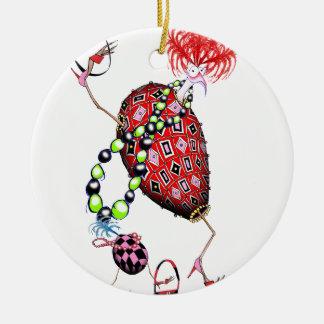 Ornamento De Cerâmica Ovo fabuloso do rubi vermelho de Tony Fernandes